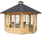 Mobile Preview: Holzpavillon mit Fenster