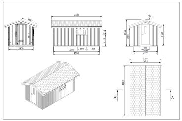 gartenhaus g nstig aus fichte zum super preis. Black Bedroom Furniture Sets. Home Design Ideas