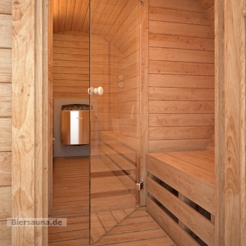 fasssauna bausatz die sauna besteht aus 2 r umen. Black Bedroom Furniture Sets. Home Design Ideas