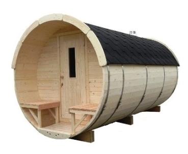 fasssauna mit saunaraum und umkleideraum eine elekto. Black Bedroom Furniture Sets. Home Design Ideas