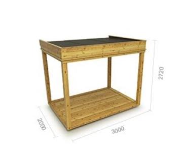 gartenh user und pavillons aus holz in verschiedenen. Black Bedroom Furniture Sets. Home Design Ideas