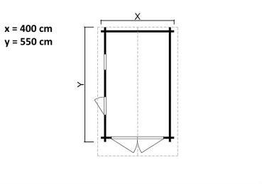 holzgarage helmut als bausatz die holzgarage hat eine wandst rke von 44 mm. Black Bedroom Furniture Sets. Home Design Ideas
