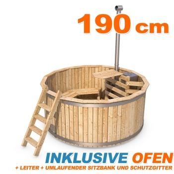 hot tub badezuber holzbottich aus fichtenholz. Black Bedroom Furniture Sets. Home Design Ideas