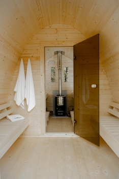sauna pod f r den garten mit oder ohne ofen. Black Bedroom Furniture Sets. Home Design Ideas