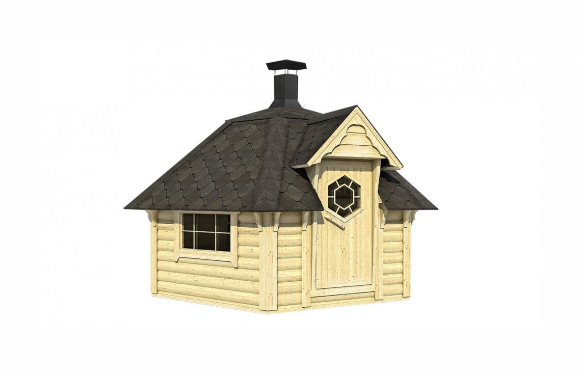 grillhaus f r den garten mit grillanlage. Black Bedroom Furniture Sets. Home Design Ideas