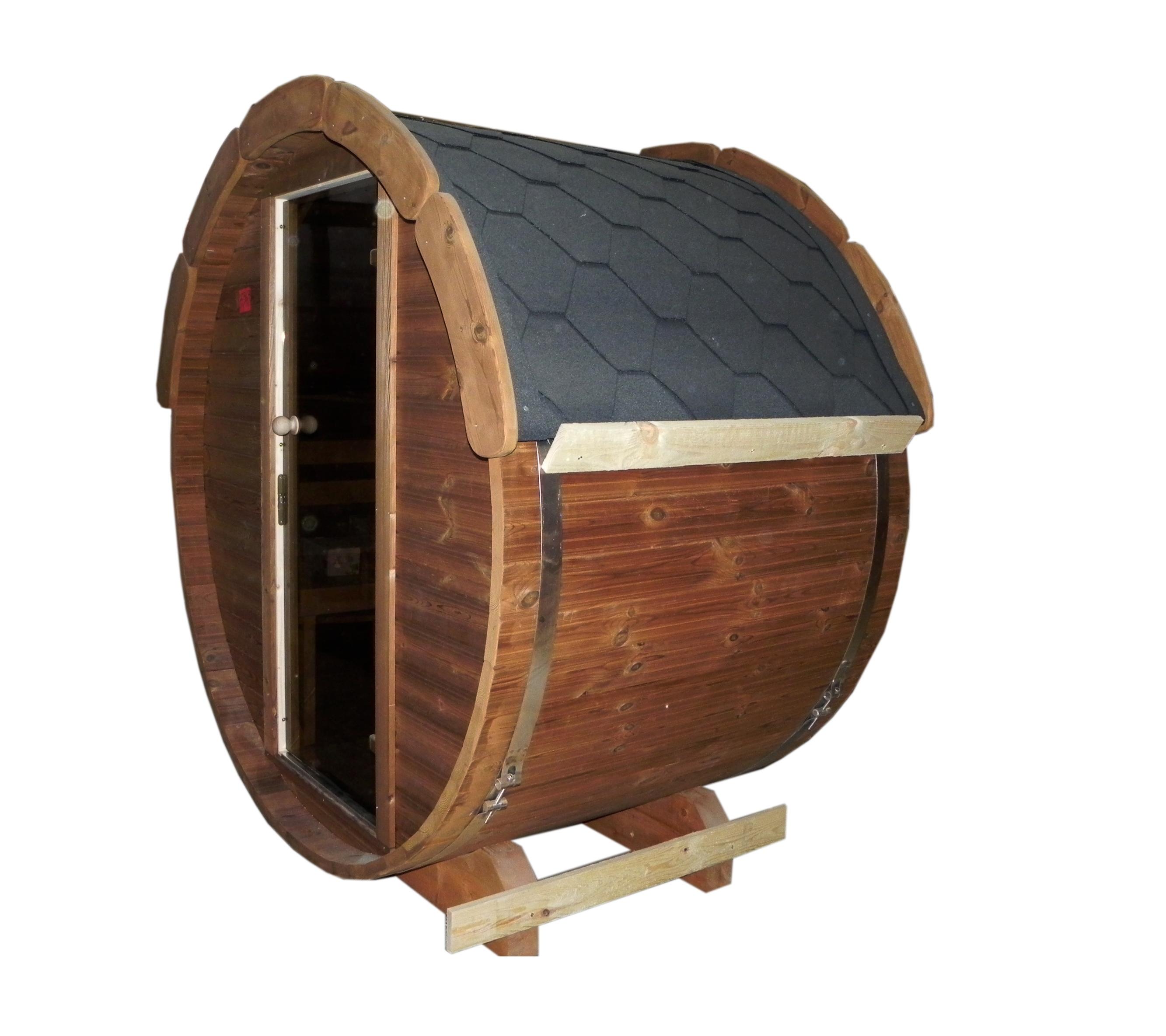 die lieferung der wohl kleinsten fasssauna der welt. Black Bedroom Furniture Sets. Home Design Ideas