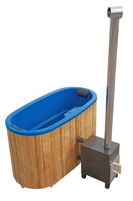 garten badewanne f r 2 personen mit gfk einsatz und edelstahl au enofen. Black Bedroom Furniture Sets. Home Design Ideas