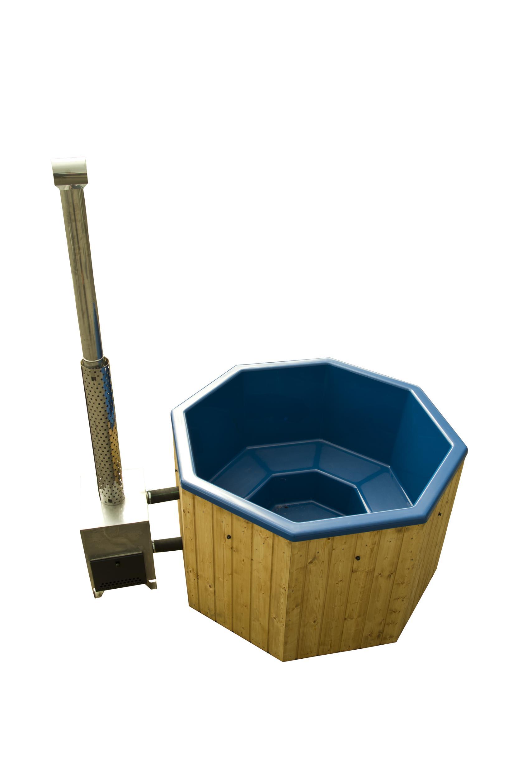 viereckiger hot tub badezuber holzbottich mit au enofen. Black Bedroom Furniture Sets. Home Design Ideas