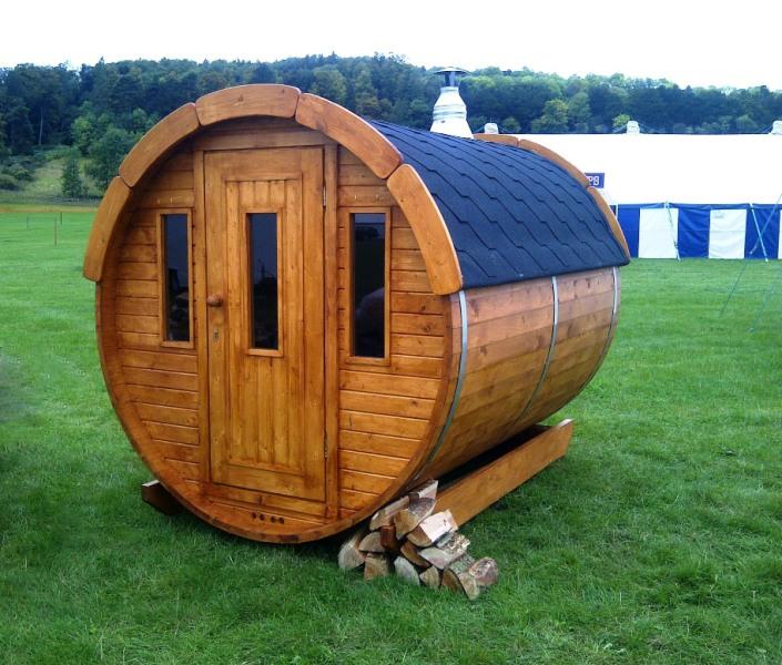Komplett Neu Fass-Sauna Bausatz mit Saunaofen. DD54