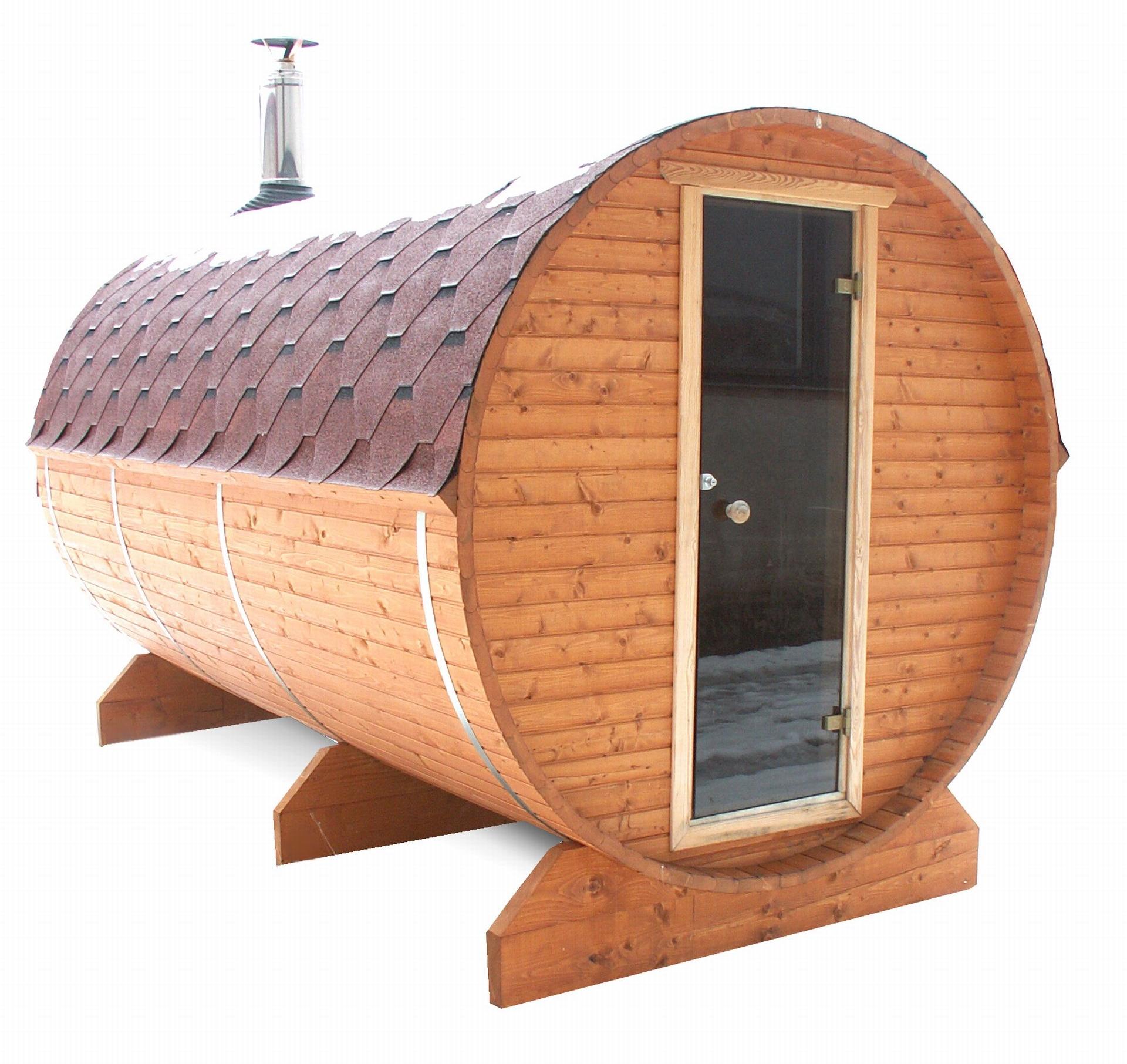 fasssauna bausatz verwirklichen sie sich einen traum die sauna ist mit holzofen oder. Black Bedroom Furniture Sets. Home Design Ideas