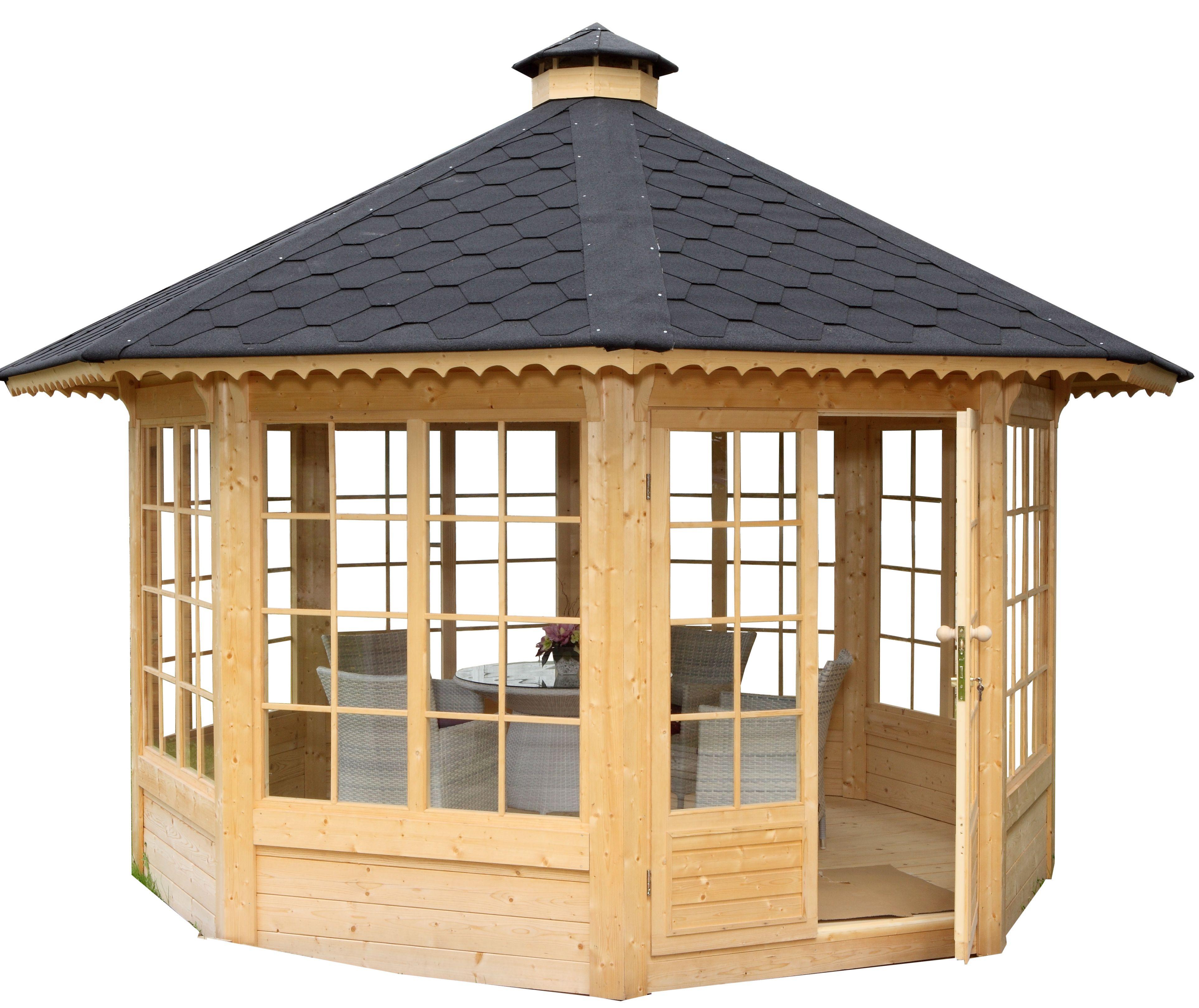 Gartenpavillon Holz Mit Stoffdach ~ Holzpavillon mit Fenster