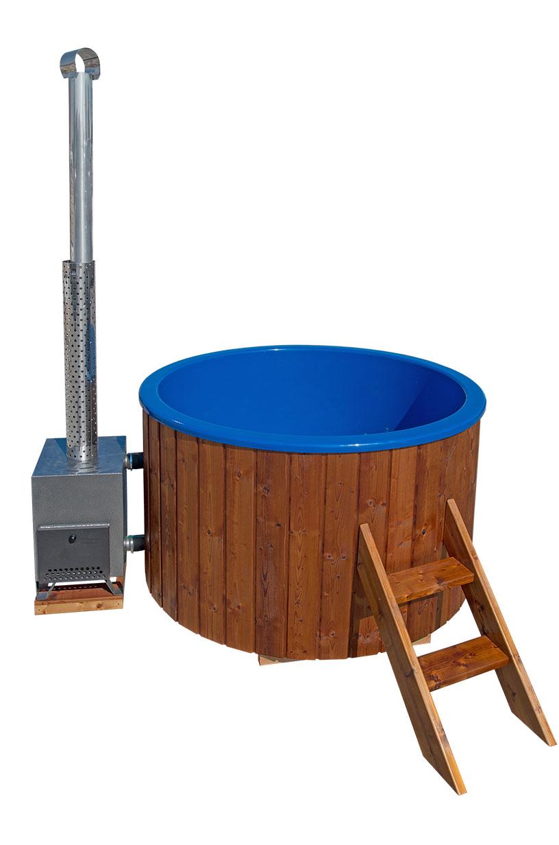hot tub badezuber holzbottich mit au enofen. Black Bedroom Furniture Sets. Home Design Ideas