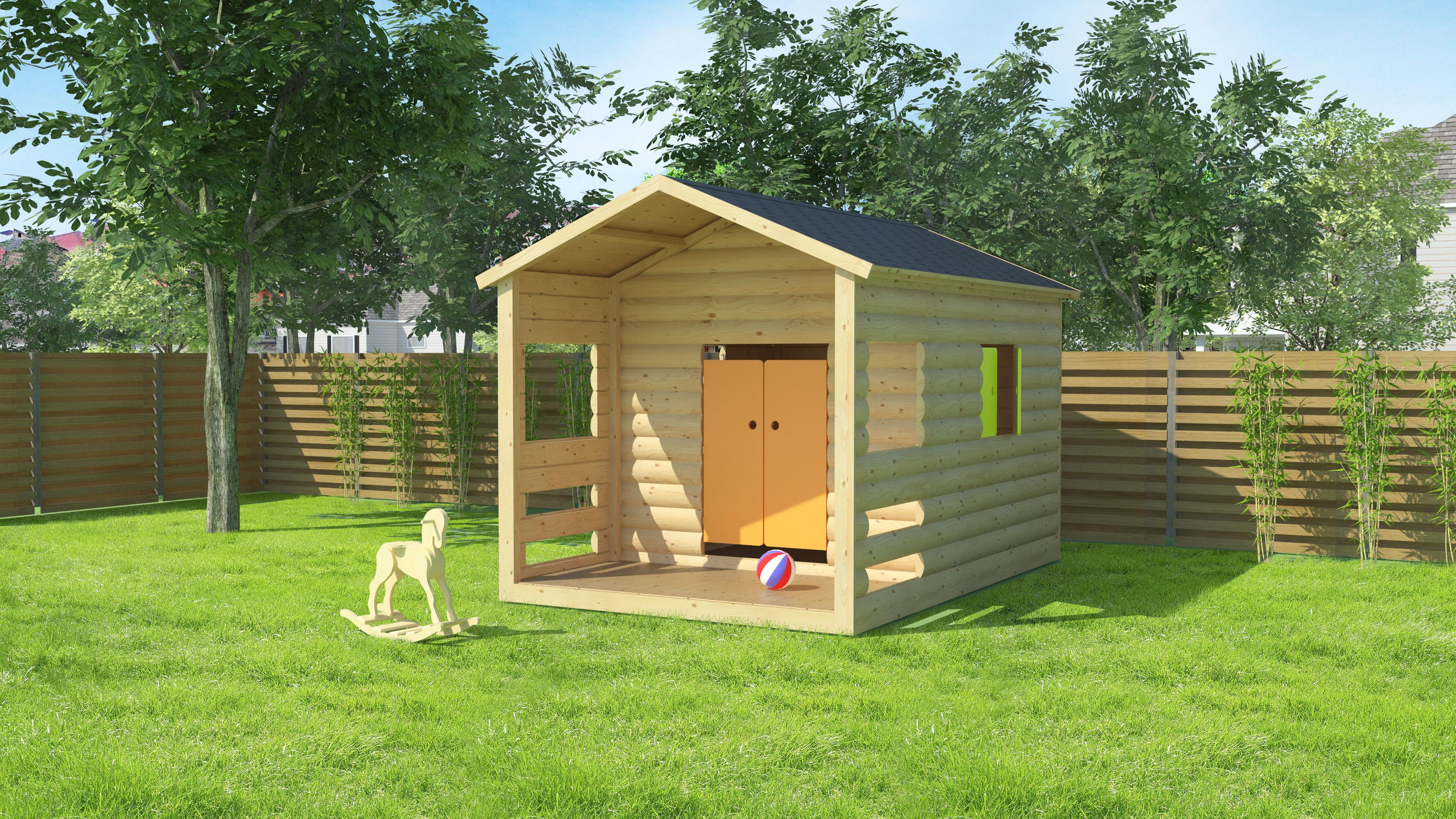 kinder spielhaus aus holz. Black Bedroom Furniture Sets. Home Design Ideas