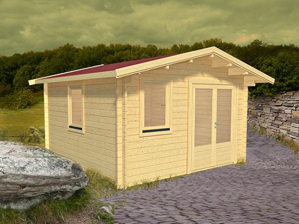 gartenhaus nida 2 als bausatz mit fu boden das gartenhaus hat eine wandst rke von 44 mm. Black Bedroom Furniture Sets. Home Design Ideas