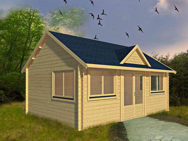 gartenhaus nida 9 als bausatz mit fu boden das gartenhaus hat eine wandst rke von 44 mm. Black Bedroom Furniture Sets. Home Design Ideas