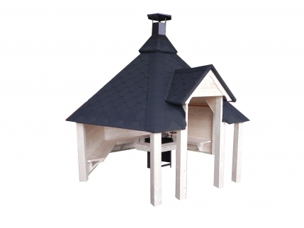 offene grillkota kota mit grillanlage. Black Bedroom Furniture Sets. Home Design Ideas