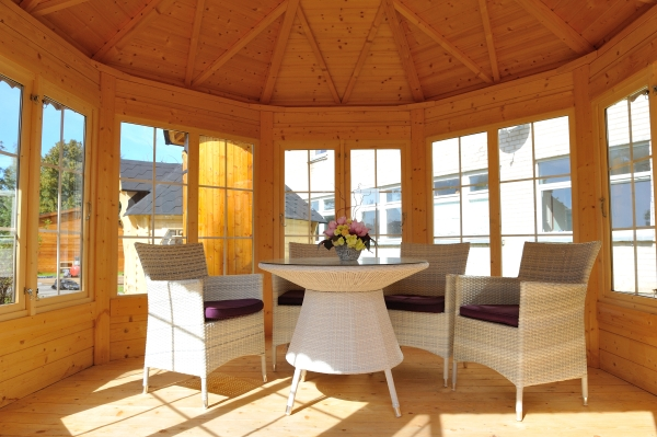 gartenpavillon partyhaus gartenhaus holzpavillon pavillon holz 8 eckig xxl ebay. Black Bedroom Furniture Sets. Home Design Ideas